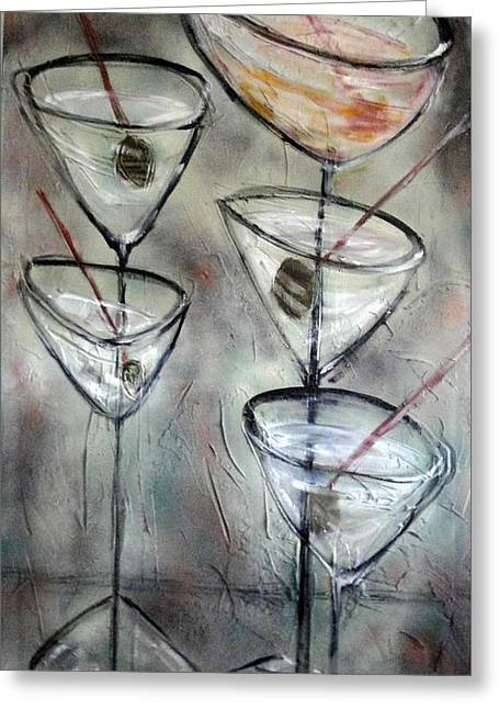 Martini Time Greeting Card