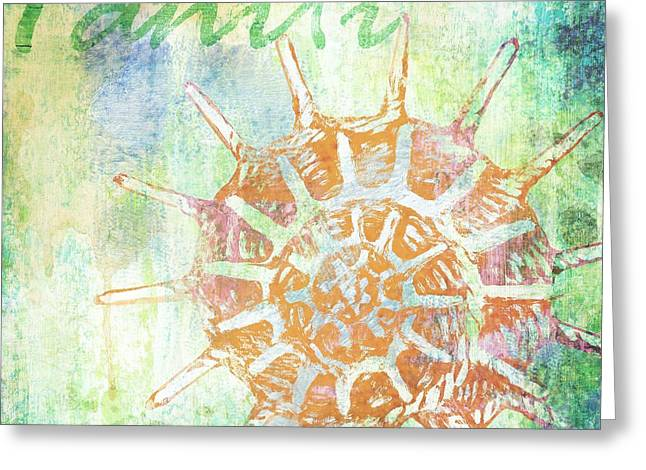 Martinique Shells II Greeting Card by Paul Brent