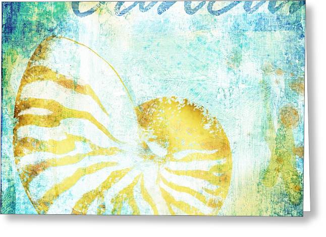 Martinique Shells  Greeting Card