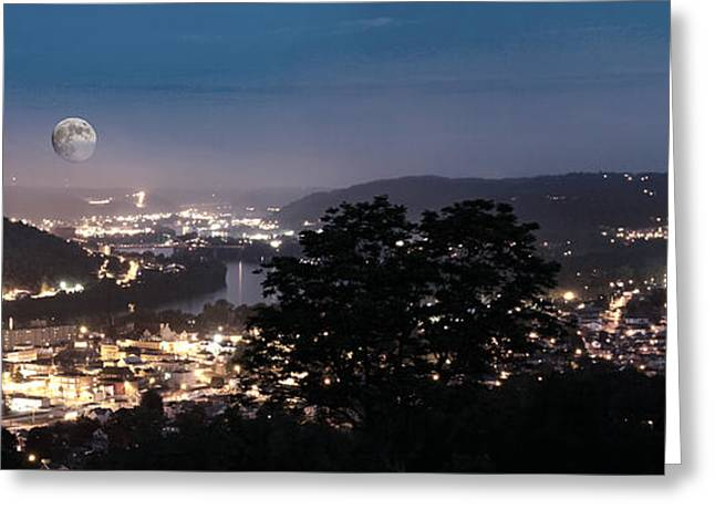 Martins Ferry Night Greeting Card