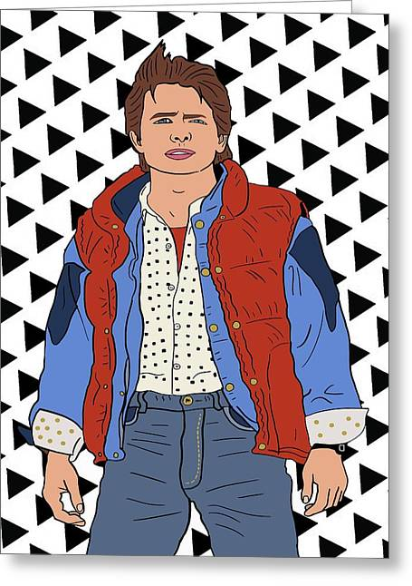 Marty Mcfly Greeting Card by Nicole Wilson