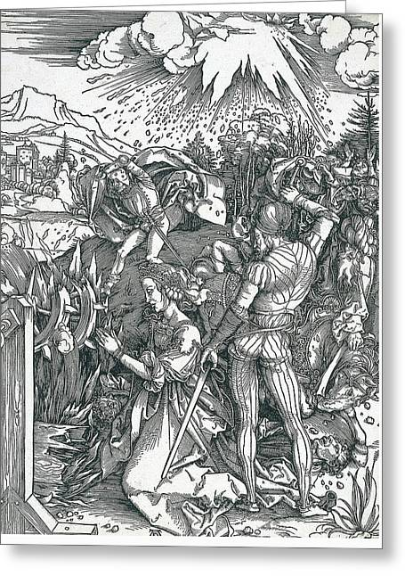 Martyrdom Of Saint Catherine Greeting Card by Albrecht Durer