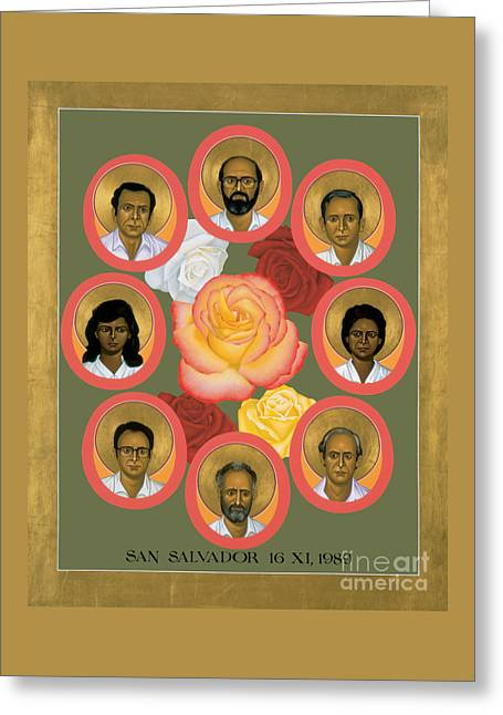Martyrs Of The Jesuit University - Rlmju Greeting Card