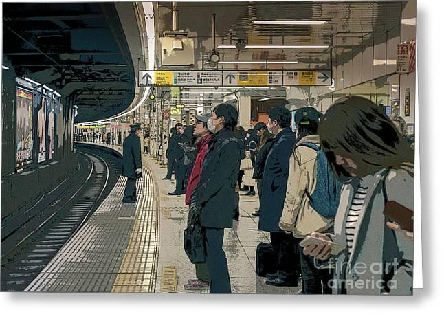 Marunouchi Line, Tokyo Metro Japan Poster 2 Greeting Card