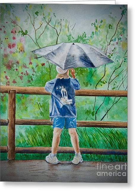 Marcus' Umbrella Greeting Card