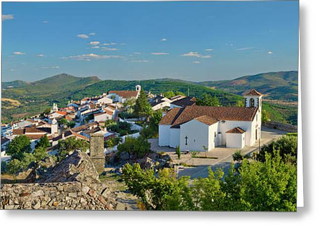 Marvao, The Walled Medieval Town Greeting Card by Mikehoward Photography