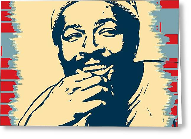 Marvin Gaye Pop Art Poster Greeting Card by Dan Sproul