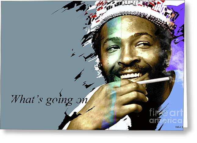 Marvin Gaye  What's Going On Greeting Card by Thomas Pollart