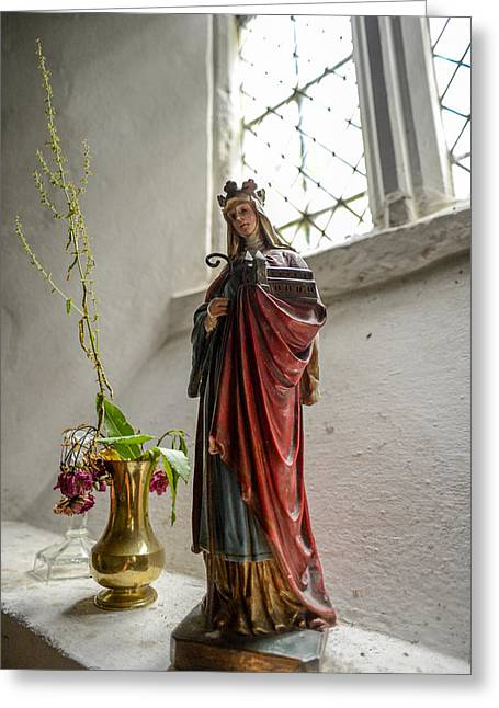 Our Blessed Lady At St Margaret Of Antioch Greeting Card