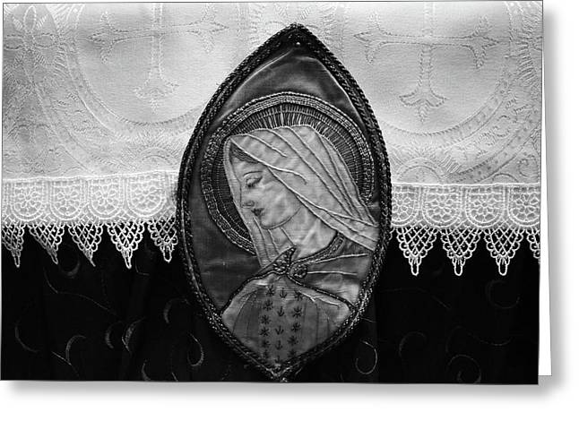 Mary Altar Cloth Greeting Card by Jeanette O'Toole