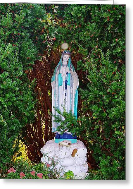 Mary And Orb Greeting Card by Don Youngclaus