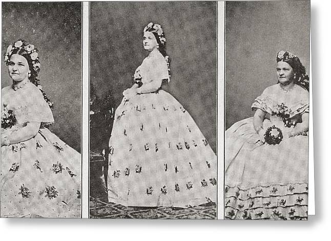 Mary Ann Lincoln, N Greeting Card by Vintage Design Pics