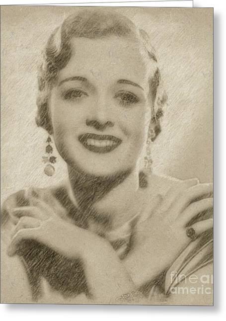 Mary Astor, Actress Greeting Card