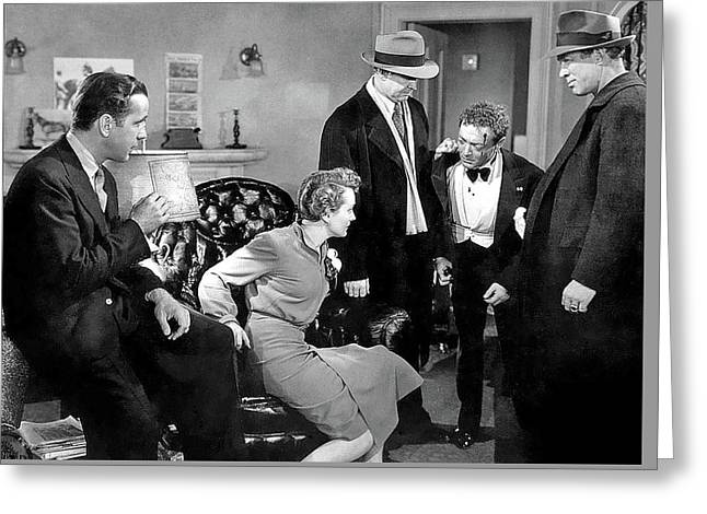 Mary Astor Bogie Peter Lorre The Maltese Falcon 1941-2015 Greeting Card by David Lee Guss