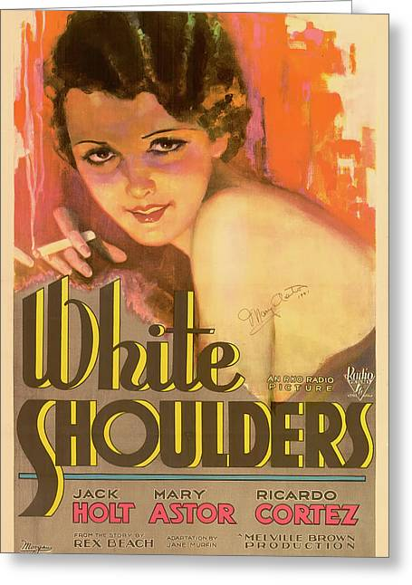 Mary Astor In White Shoulders 1931 Greeting Card by Mountain Dreams