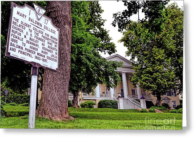 Greeting Card featuring the photograph Mary Baldwin College - Staunton Virginia by Kerri Farley
