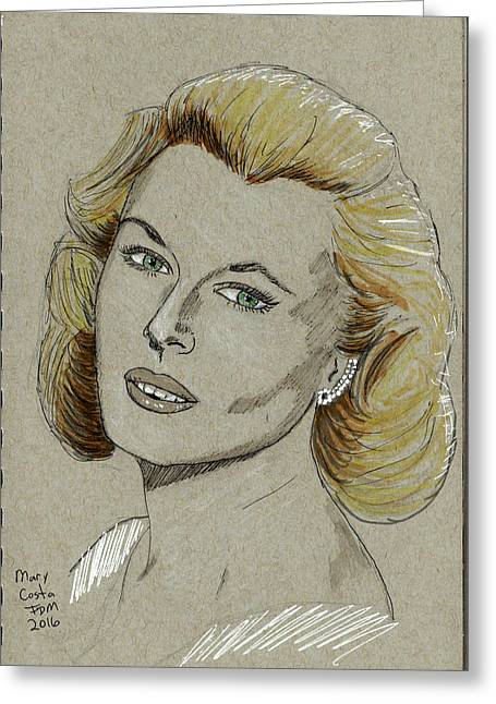 Mary Costa Greeting Card