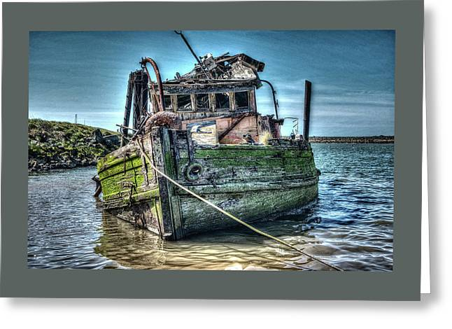 Greeting Card featuring the photograph Mary D. Hume Shipwreak by Thom Zehrfeld