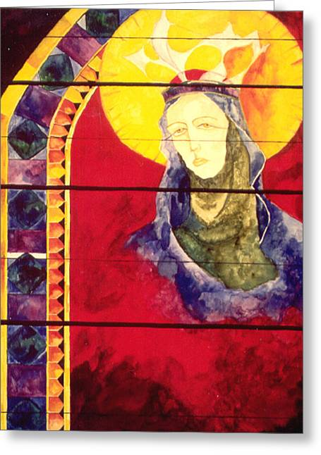 Mary Greeting Card by Erika Brown