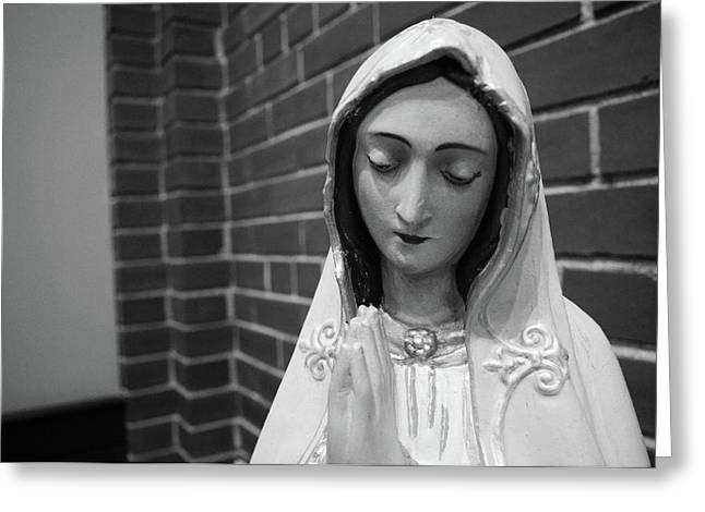 Greeting Card featuring the photograph Mary by Jeanette O'Toole