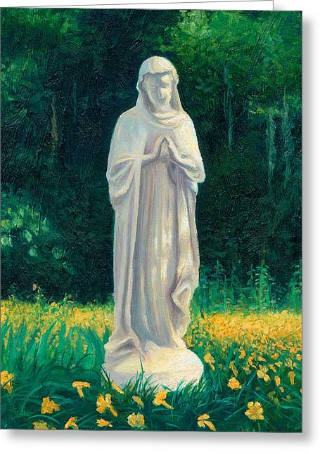 Greeting Card featuring the painting Mary by Joe Winkler