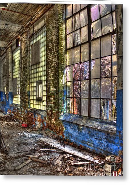 Window Walls Mary Leila Cotton Mill Greeting Card by Reid Callaway