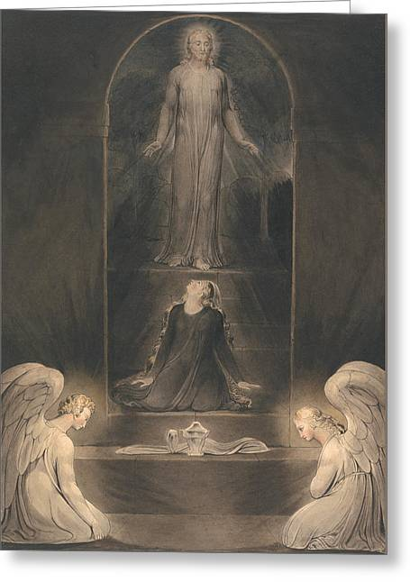 Mary Magdalen At The Sepulcher Greeting Card by Mountain Dreams