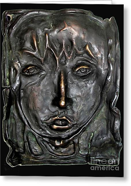 Mary Magdalen Edition Of Six Bronzes Greeting Card by Charlie Spear