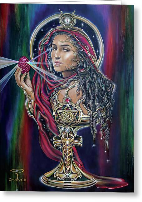 Mary Magdalen - The Holy Grail Greeting Card