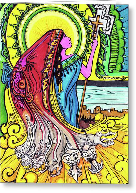 Mary Of Madgala Greeting Card by Maggie Nancarrow