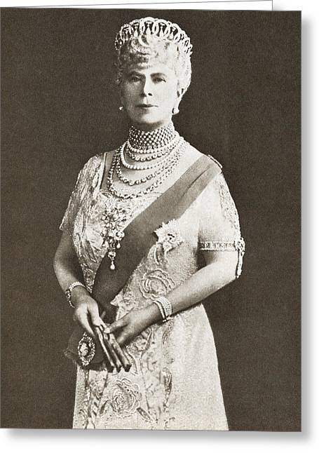Mary Of Teck, Victoria Mary Augusta Greeting Card