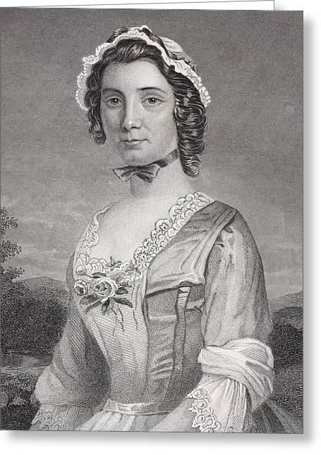 Mary Philipse 1730 - 1825. First Love Greeting Card by Vintage Design Pics