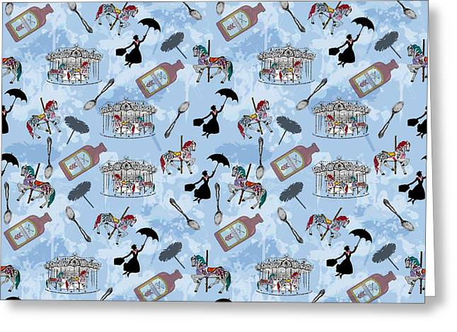 Mary Poppins Greeting Card by Beth Travers