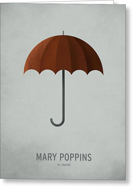 Printed Greeting Cards - Mary Poppins Greeting Card by Christian Jackson
