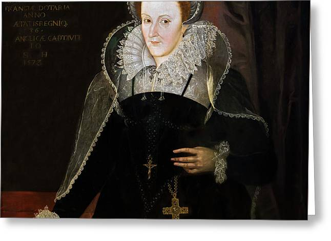 Mary Queen Of Scots, After Nicholas Hilliard, 16th Century Greeting Card