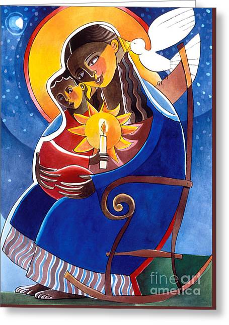 Mary, Seat Of Wisdom - Mmwis Greeting Card