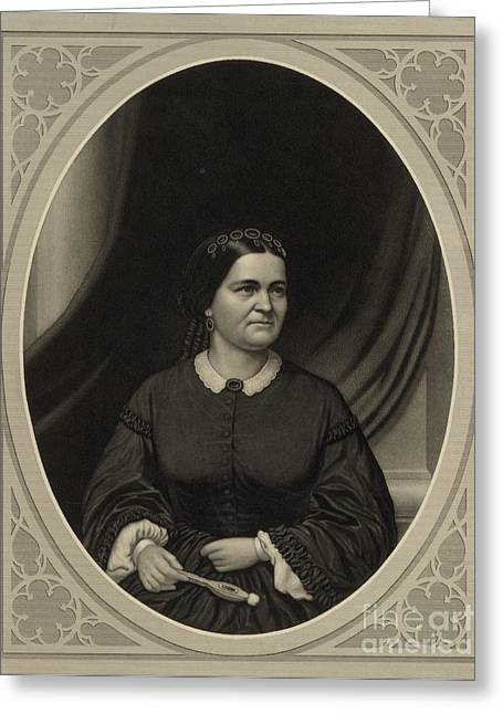 Mary Todd Lincoln, First Lady Greeting Card by Science Source