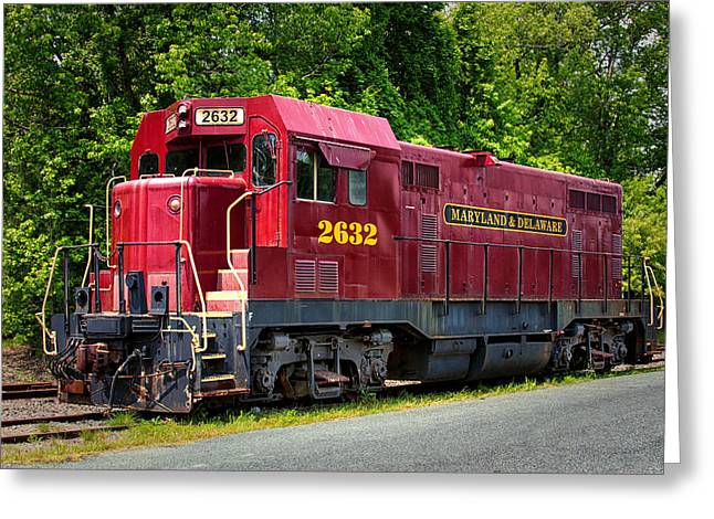 Maryland And Delaware Engine 2632 Greeting Card