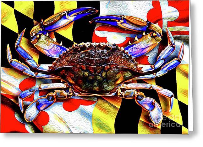 Maryland Blue Crab Greeting Card