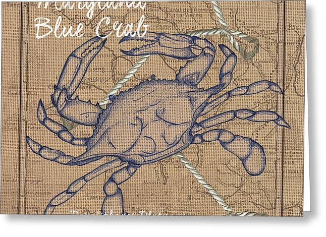 Maryland Blue Crab Greeting Card by Debbie DeWitt