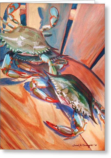 Maryland Blue Crabs Greeting Card