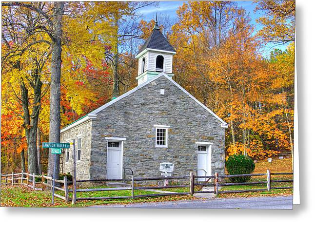 Maryland Country Churches - Eylers Valley Chapel - Built 1857 - Autumn No. 6 Frederick County Greeting Card by Michael Mazaika