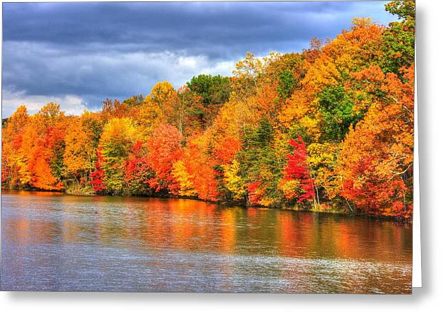 Maryland Country Roads - Autumn Colorfest No. 10 - Lake Linganore Frederick County Md Greeting Card