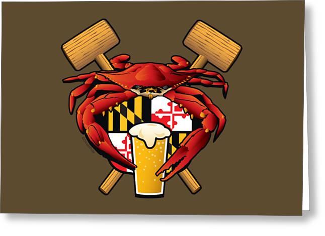 Maryland Crab Feast Crest Greeting Card