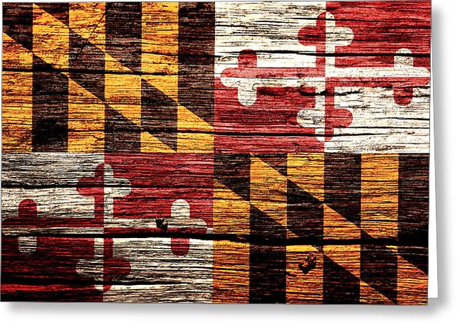 Maryland State Flag 1w Greeting Card by Brian Reaves