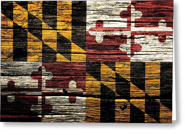 Maryland State Flag 3w Greeting Card by Brian Reaves