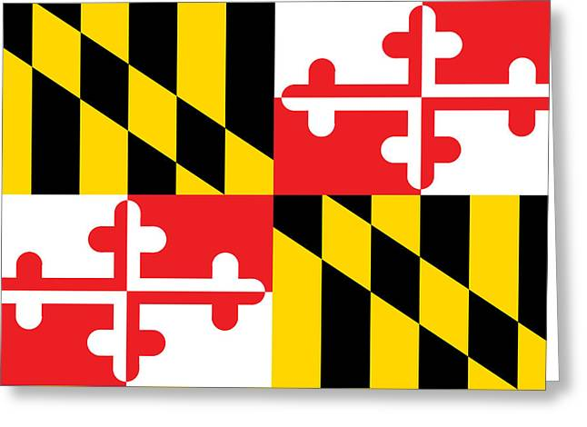 Maryland State Flag Greeting Card by American School