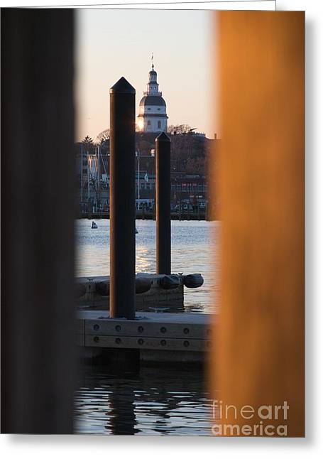 Maryland State House From Eastport Greeting Card by Hideaki Sakurai