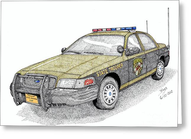 Maryland State Police Car Style 1 Greeting Card by Calvert Koerber