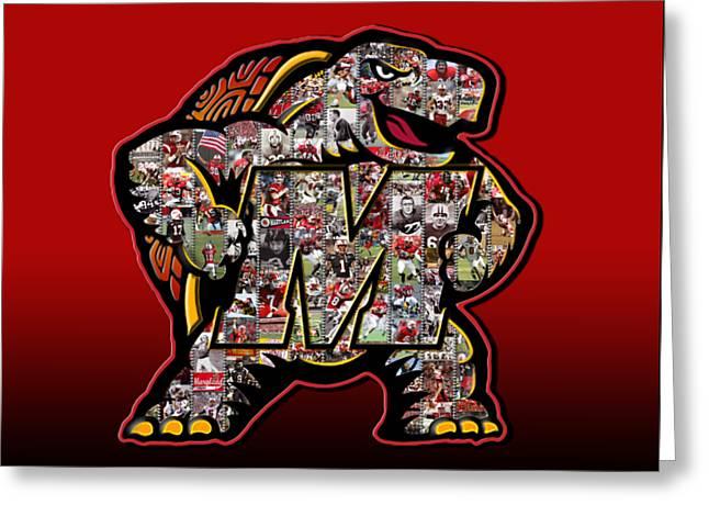 Maryland Terrapins Football Greeting Card by Fairchild Art Studio